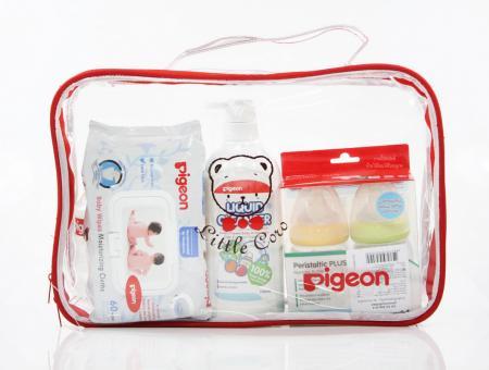 Pigeon Gift Set Baby Red พีเจ้น ชุดของขวัญเด็กสีแดง