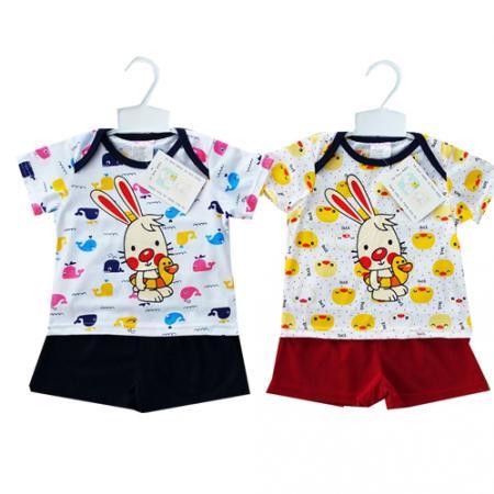 ชุดเสื้อกล้ามสำหรับเด็กผู้ชายอายุ 6-9 เดือน เนื้อผ้า: cotton 100%